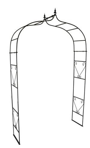 Klassisk Rosenbåge i obehandlat stål